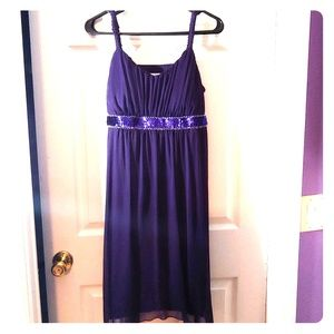 Purple dress with sequins